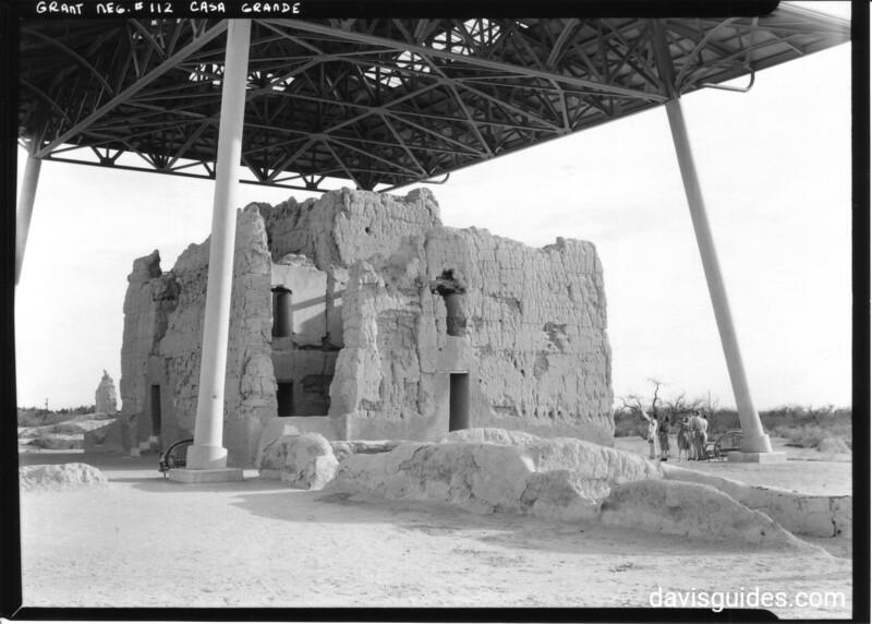 Northeast corner of the Big House, Casa Grande Ruins National Monument, 1940.