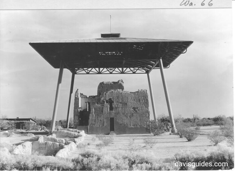 View of the Big House, Casa Grande Ruins National Monument, 1934.