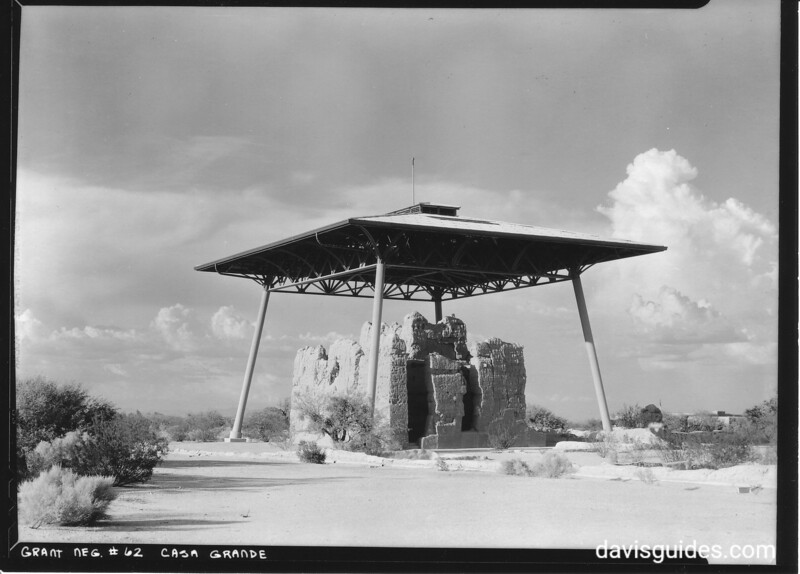 View of the Big House from the Southwest, Casa Grande Ruins National Monument, 1934.