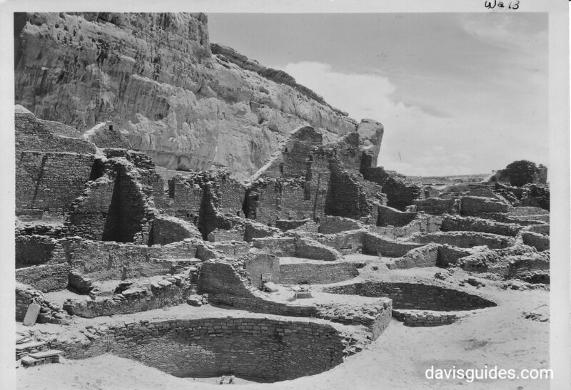 A view of Pueblo Bonito, Chaco Canyon National Monument (now Chaco Culture National Historical Park), 1929.