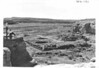 Partially excavated ruin of Chetro Ketl from the east side. Part of Pueblo Bonito can be seen beyond. Chaco Canyon National Monument (now Chaco Culture National Historical Park), 1934.