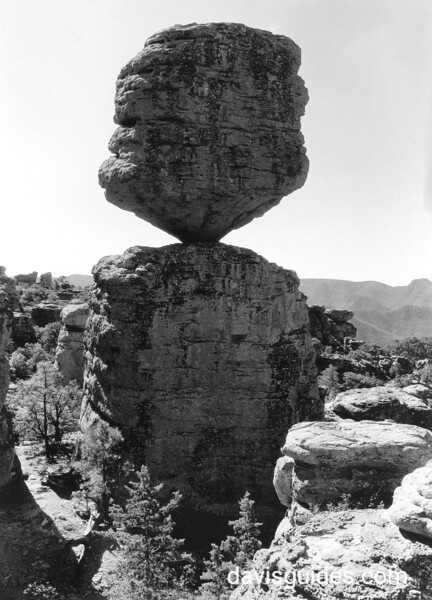 Appoximate Year: 1935<br /> Park: Chiricahua NM<br /> Photographer: Grant, George A.<br /> Description: A close - up of the Balanced Rock.