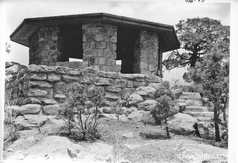 New observation station on Massai Point. Structure built by the CCC. Chiricahua National Monument, 1935.