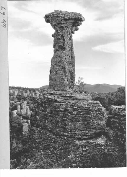 Thor's Hammer in the Balanced Rock area, Chiricahua National Monument, 1935.