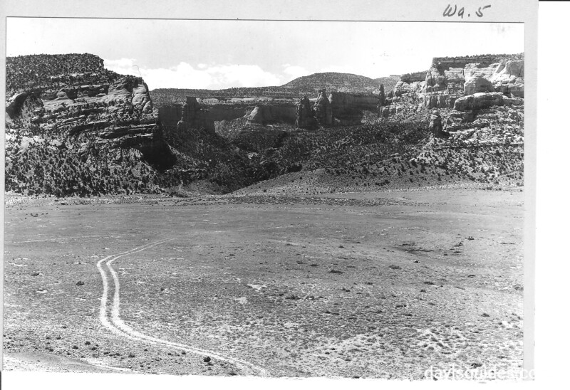 Mouth of Monument Canyon looking south, Colorado National Monument, 1935.