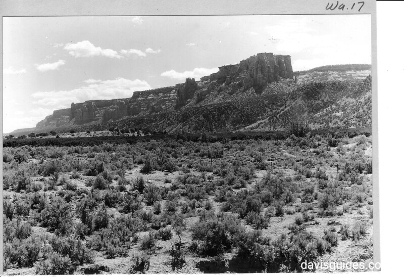 Some of the cliffs along the north face of the plateau east of Monument Canyon, Colorado National Monument, 1935.