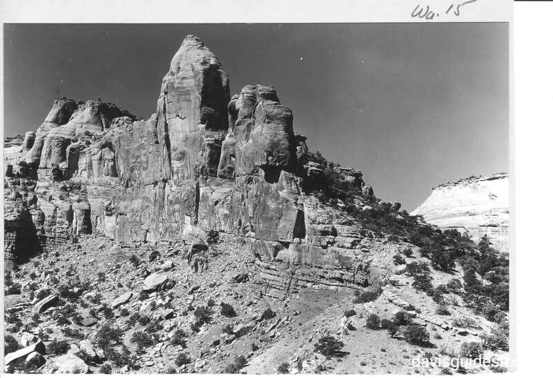 Sandstone formation at west side of Monument Canyon, Colorado National Monument, 1935.