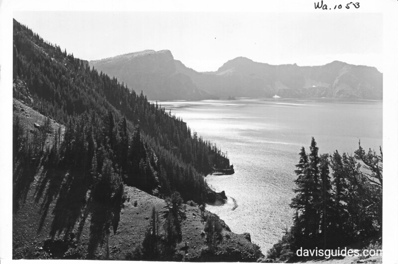 Crater Lake from the North Rim, Crater Lake National Park, 1938.