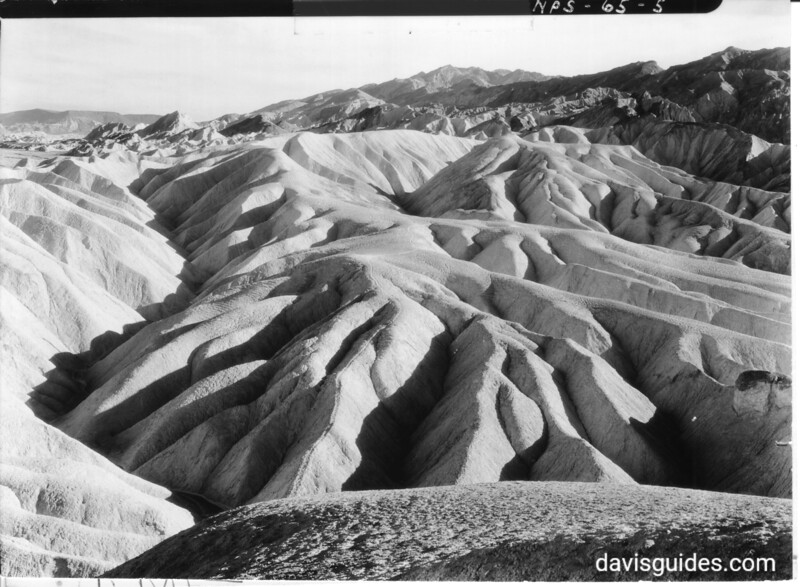 Erosion in tertiary formation from Zabriske Point, Death Valley National Park, 1935.