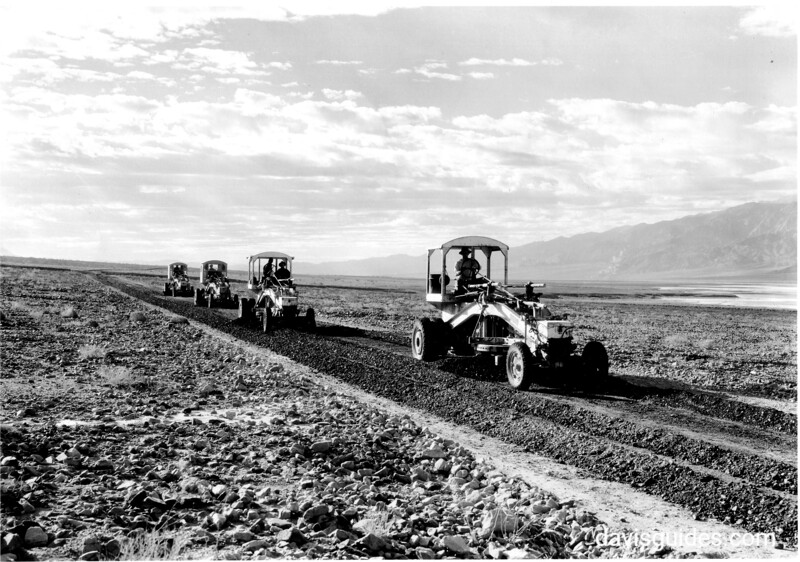 CCC enrollees building a park road, Death Valley National Park, 1935.