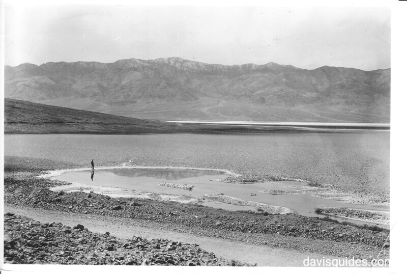 Terrain near Badwater with Telescope Peak in the distance, Death Valley National Park, 1935.