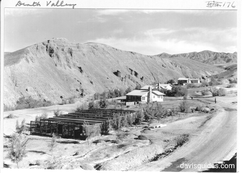 Part of the Park Service residences area in Death Valley. Arbor in the foreground is for greenhouses, Death Valley National Park, 1935.