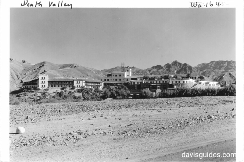 Furnace Creek Inn at the mouth of Furnace Creek Wash, Death Valley National Park, 1935.