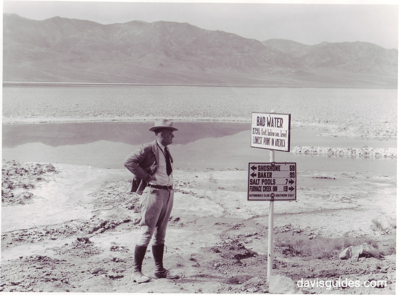 George Grant at Badwater, Death Valley National Park, 1935. Photograph by John Bryan.