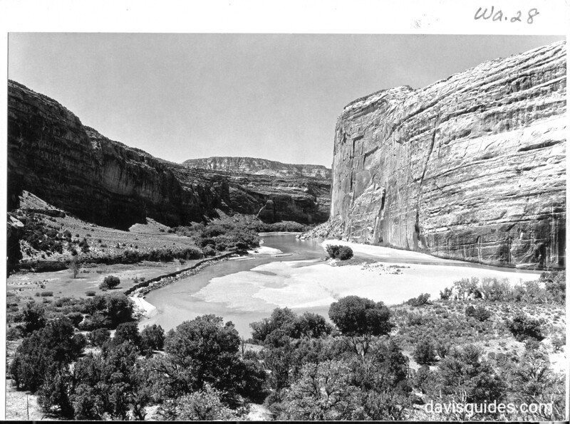 Part of Pat's Hole, junction of the Yampa and Green Rivers and east of Steamboat Rock. Dinosaur National Monument, 1935.