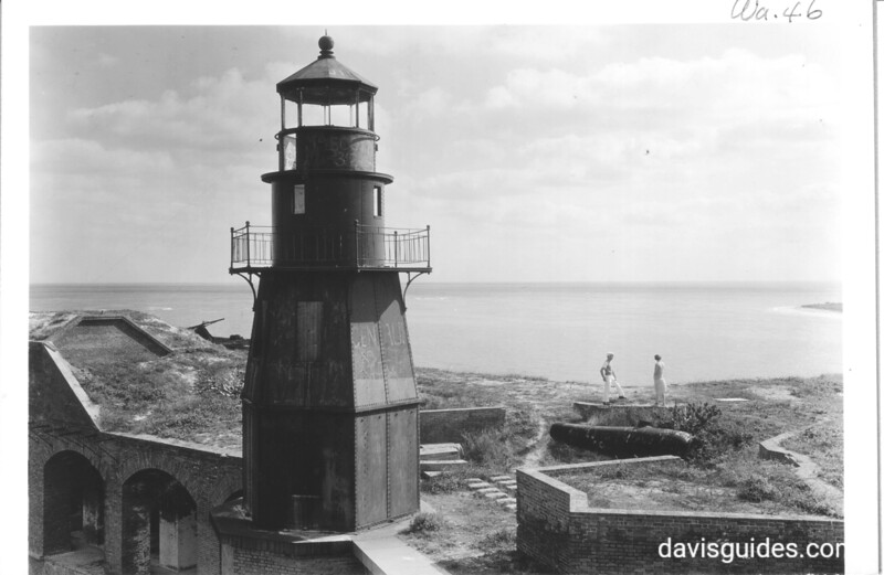 Dort Jefferson lighthouse, Dry Tortugas National Monument, 1937.