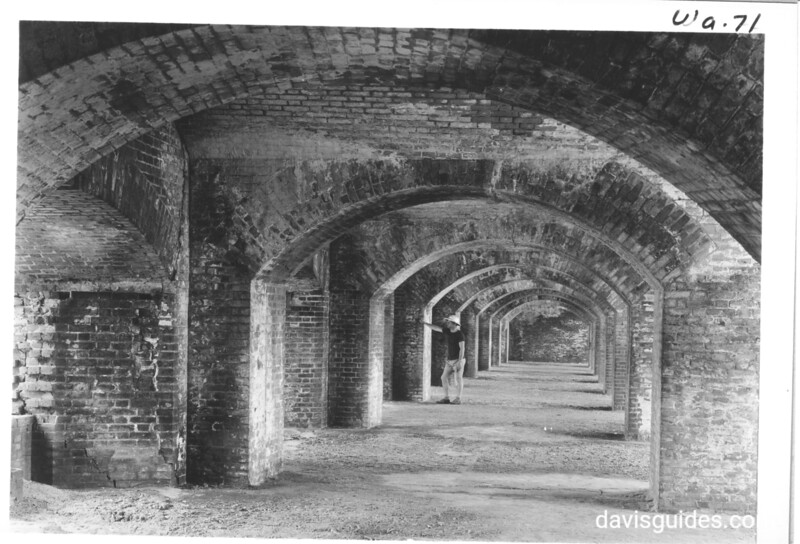 Archway on second floor of Fort Jefferson, Dry Tortugas National Monument, 1937.