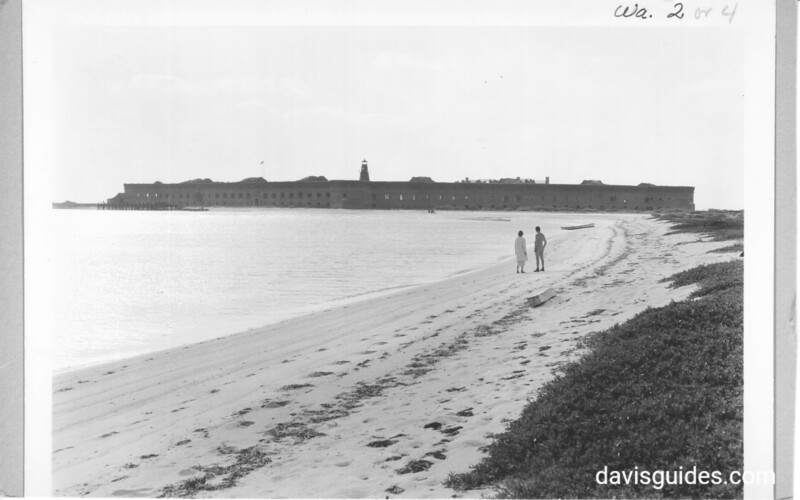 Fort Jefferson as seen from Sand Key. Dry Tortugas National Monument, 1937.