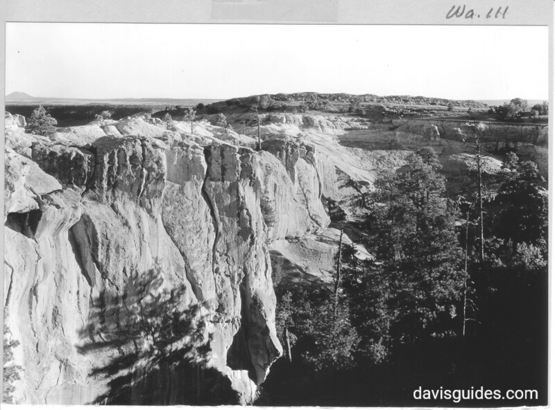 View southwest into Rincon that separates the two large surface ruins on top of El Morro. El Morro National Monument, 1934.