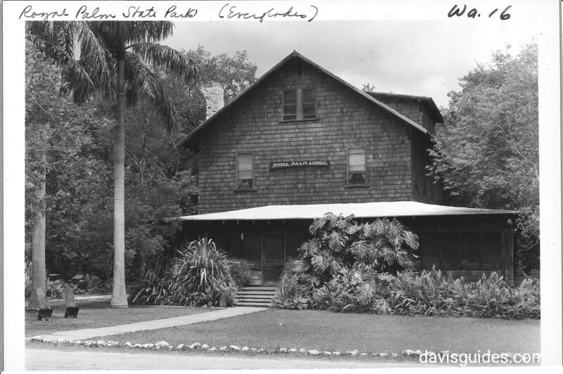 Royal Palm Lodge at Royal Palm State Park, Florida.  Adjacent to planned Everglades National Park, 1937.