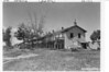 2 or 3 families were living here. View of the south side of the old barracks, Fort Laramie National Historic Site, 1932.
