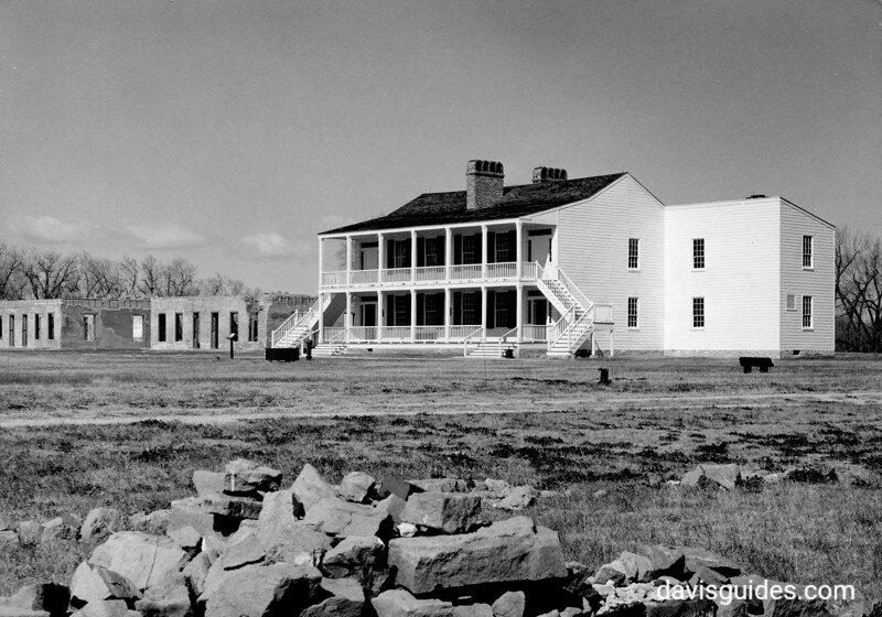 "Recently rehabilitated ""Old Bedlam"", Fort Laramie National Historic Site, 1949."