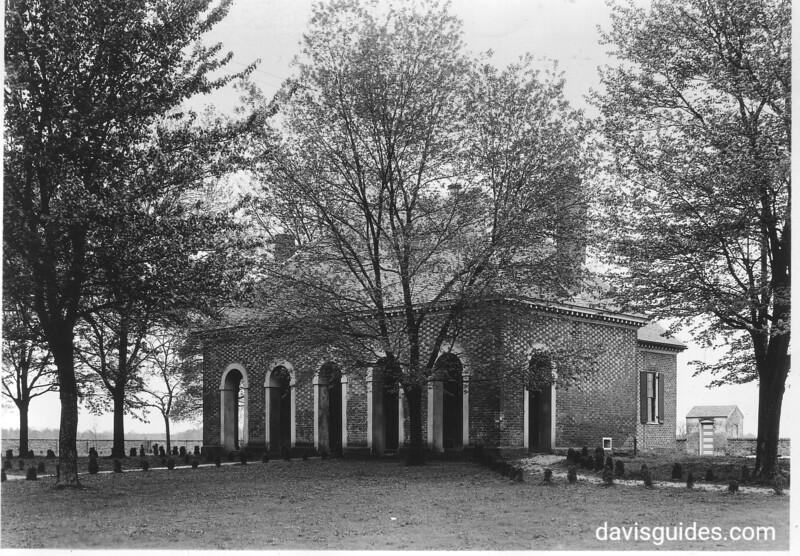 Hanover Courthouse, Virginia, built in 1735. Fredericksburg and Spotsylvania County Battlefields Memorial National Military Park, 1934.