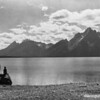 CCC enrollees enjoy the view of the Grand Tetons from Jackson Lake, Grand Teton National Park, 1933.