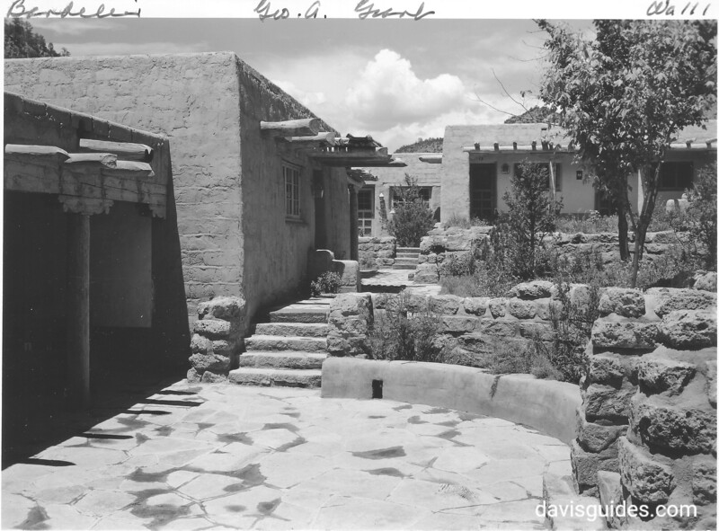 CCC -built lodge complex at Bandelier National Monument, 1940