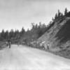 CCC road construction crew on Two Medicine Road. Glacier National Park, 1933.