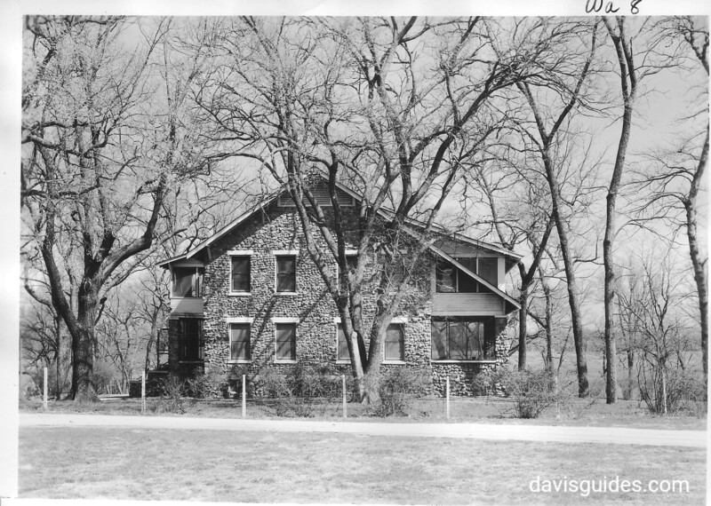 South side view of main building. George Washington Carver National Monument, 1953.