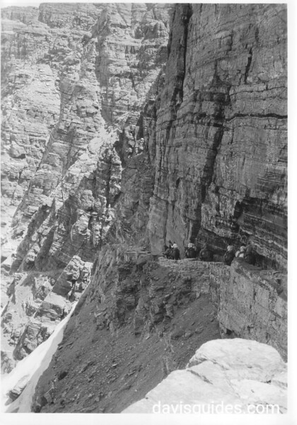 The trail on the north side of the Ptarmigan Tunnel, Glacier National Park, 1932.