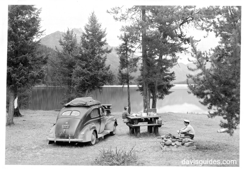 Car camping, Glacier National Park, 1948.