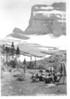 Lunch hour under Mount Gould, below Grinnell Glacier. Glacier National Park, 1932.