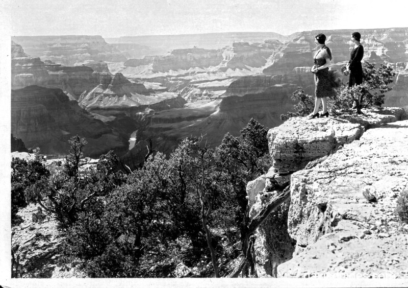 View of the canyon looking west, Grand Canyon National Park, 1930.