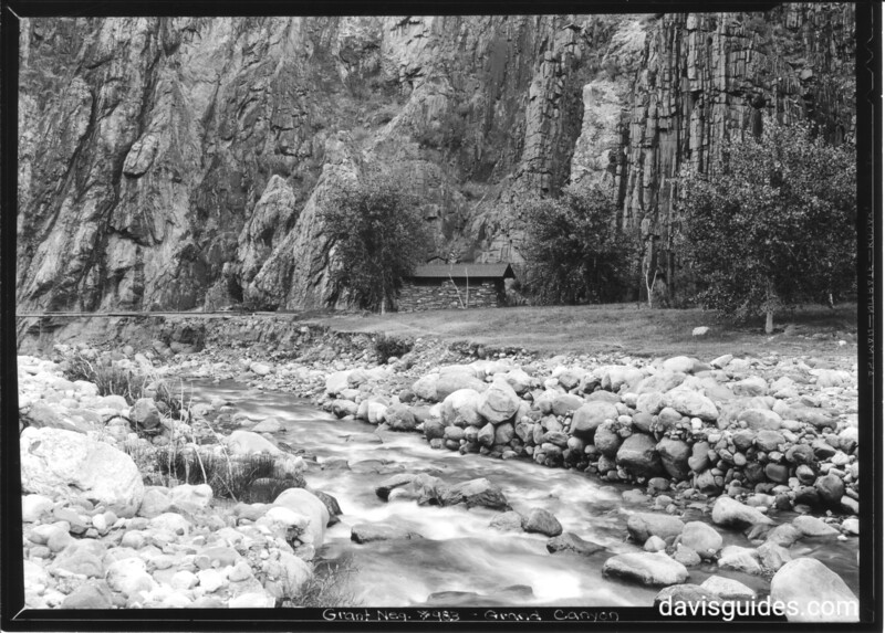 Shelter by the Colorado River at the base of the canyon, near Phantom Ranch. Grand Canyon National Park, 1936.