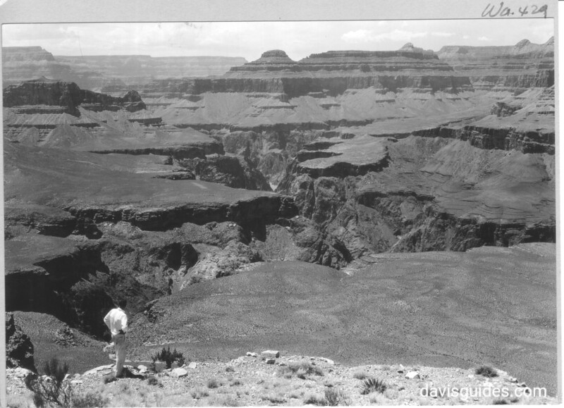 View down into Inner Gorge from Mormon Flats, Grand Canyon National Park, 1930.