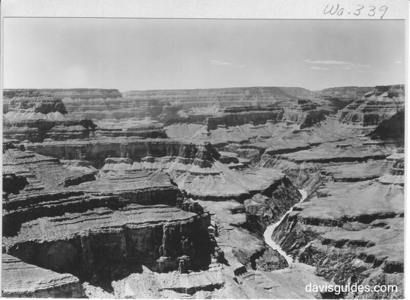 View of the canyon looking west from Pima Point. Grand Canyon National Park, 1929.
