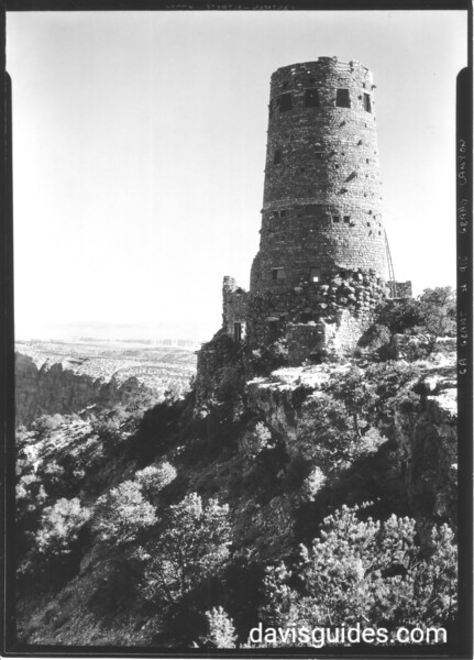 """Fred Harvey's """"Desert View"""" watchtower, Grand Canyon National Park, 1934."""