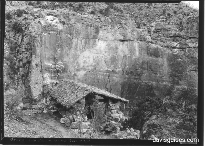 Stone shelter on Bright Angel Trail, Grand Canyon National Park, 1936.