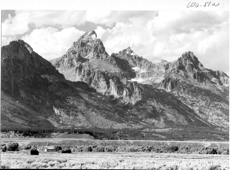Tetons from the north end of Blacktail Butte, Grand Teton National Park, 1930.