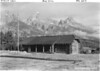 The new headquarters building and superintendent's office. Grand Teton National Park, 1939.
