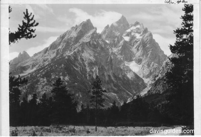Teewinot, the Grand Teton and Mount Owen. Grand Teton National Park, 1930.