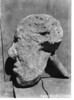 The Colter Stone, a rough-carved rhyolite of a human face, is believed to have been carved by John Colter, the first white man to visit Yellowstone. Grand Teton National Park,  no date.