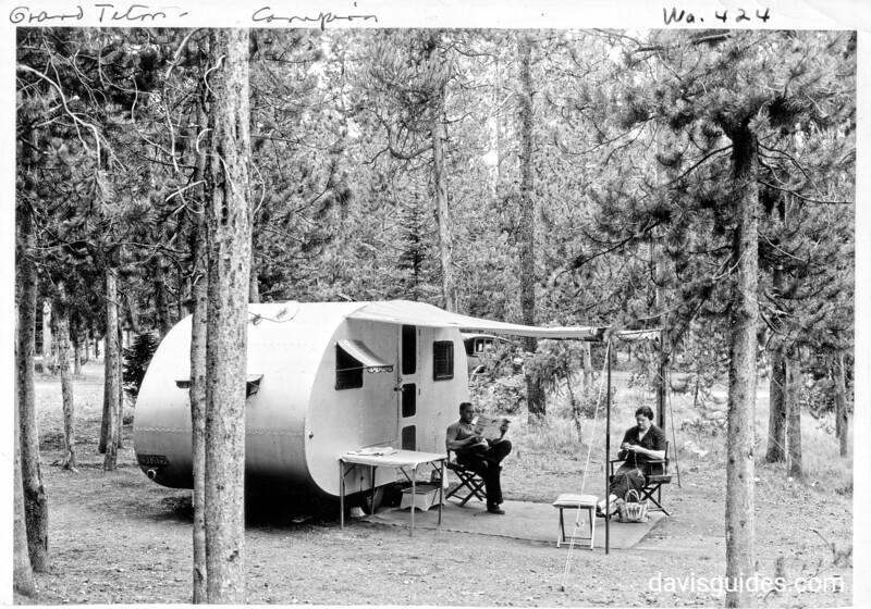 Camping at Jenny Lake Campground, Grand Teton National Park, 1934.