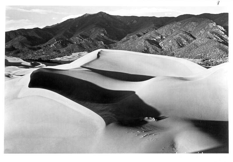 The Great Sand Dunes, Great Sand Dunes National Monument, 1939.