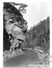Overhanging cliff on the highway between Townsend and Gatlinburg. Planned Great Smoky Mountains National Park, 1931.