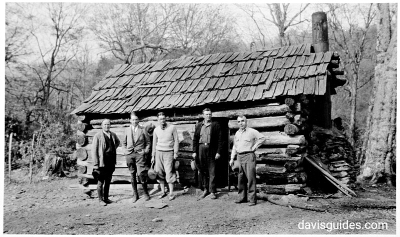 Survey team with park superintendent Ross Eakins on far right. Planned Great Smoky Mountains National Park, 1931.