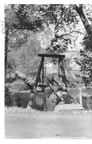 Footbridge across Little Pigeon River near Townsend, Tennessee. Planned Great Smoky Mountains National Park, 1931.