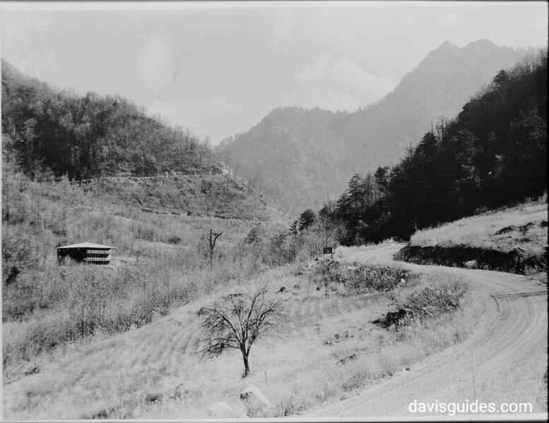 Looking down Newfound Gap Highway; planned Great Smoky Mountains National Park, 1931.